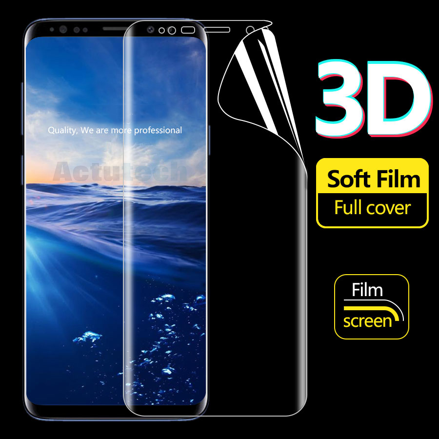 9H 3D Curved Full Cover Screen Protector Tempered Glass for Samsung Galaxy A7 A9 2018 Protective Film in Phone Screen Protectors from Cellphones Telecommunications
