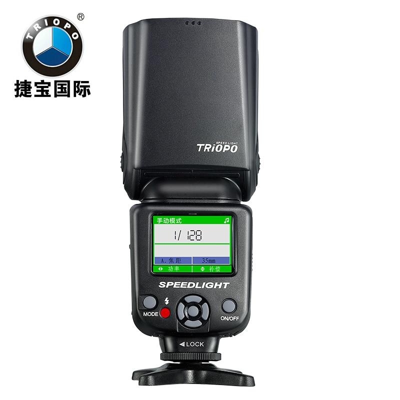 TRIOPO TR 985C TR 985N Camera Flash LCD TTL 1 8000 HSS Wireless Flash Light Speedlite
