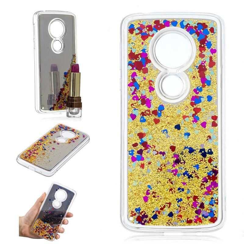 For Motorola Moto E5 E5 Plus Case Luxury Glitter Liquid Quicksand Shining Mirror Case For Moto E5 Plus Phone Bags Capa Coque E5