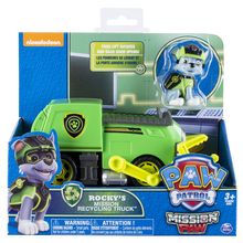 Original Nickelodeon Paw Patrol Rocky's Mission Recycling Truck Spin Master Mission Paw Vehicle Toy Anime Action Figure Toy Gift spin master nickelodeon paw patrol машина трансформер маршал со звуком 16704