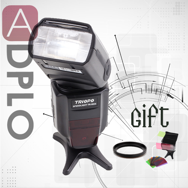 Buy 1 get 2 gift !Triopo TR-982 II master ttl speedlite flash light work for nikon camera D7100 цены онлайн