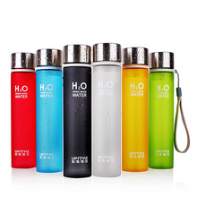 UPSTYLE BPA Free Plastic Slim Scurb Sports Water Bottle with Rope and  Stainless Steel Lid,