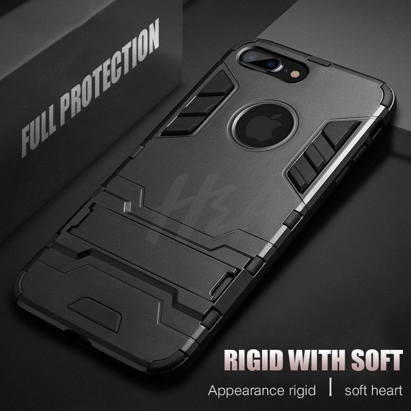 Shockproof Armor Phone Case For iPhone X 5 5s 6 8 7 Plus TPU + PC Protective Case 3