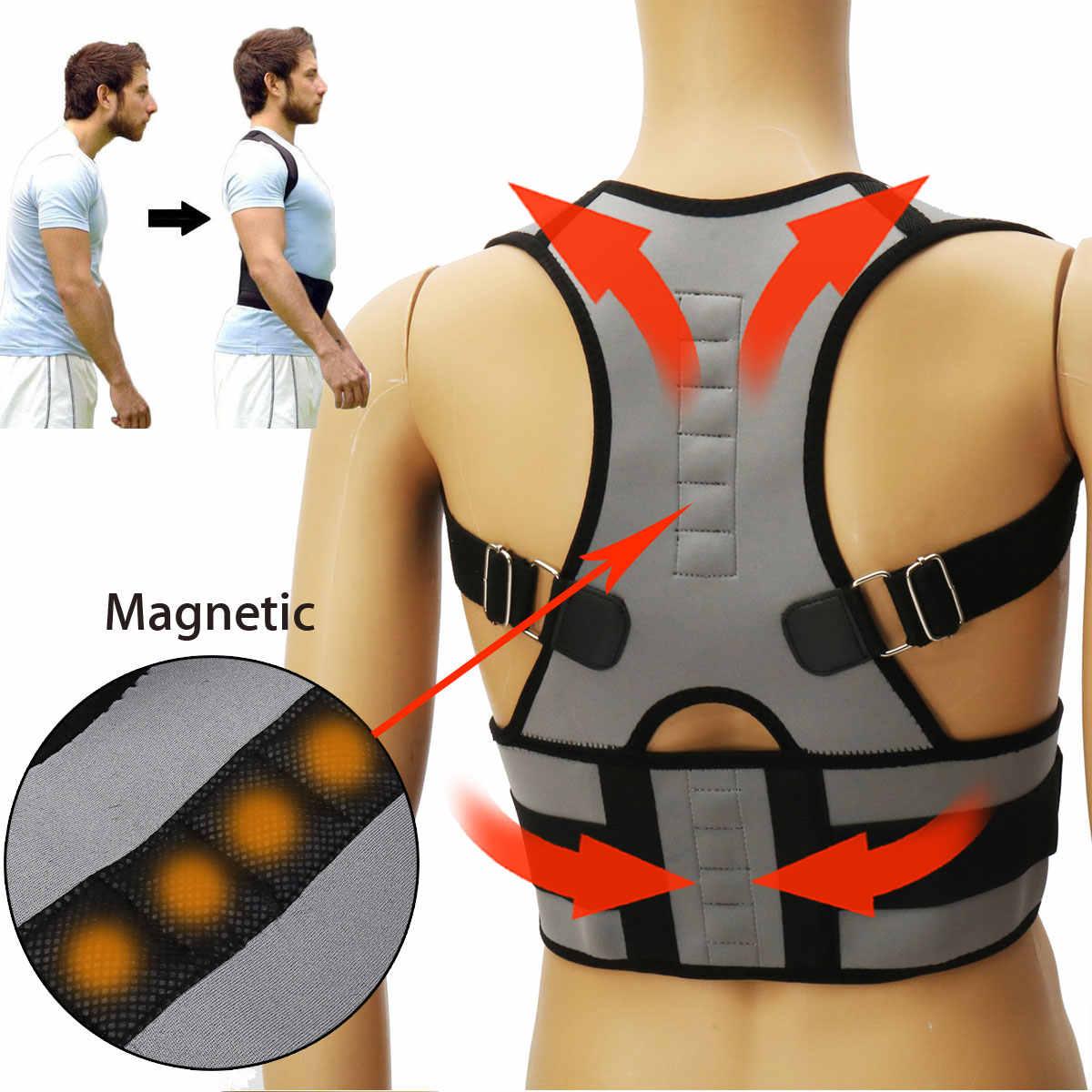 SGODDE Магнитная терапия студент Регулируемый назад корсет плечо поясничного Корректор осанки бинты корсет для поддержки осанки поддержка
