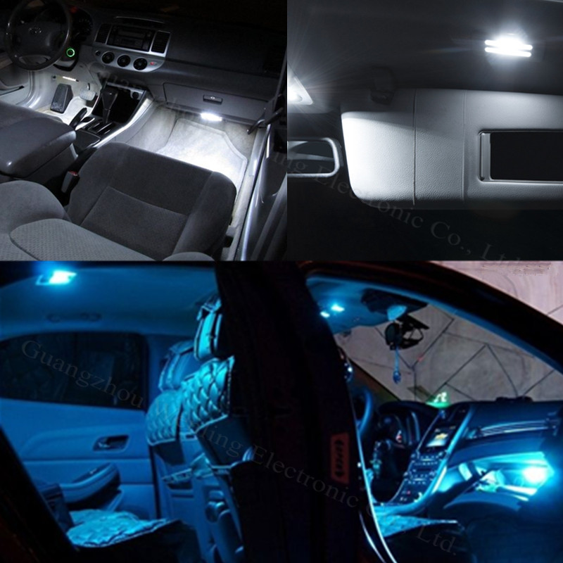 WLJH 11x Pure White Canbus Light Dome Interior Car Interior Lighting Kit For Volkswagen VW GOLF 6 VI GTI MK6 2010 2011 2013 2014
