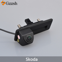LS8011 Car Rear View Camera for Skoda Octavia 2010 2012 2013 Auto Trunk Handle Backup Reverse Parking Assistance Rearview Camera