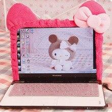 Эластичный Пыленепроницаемый Чехол для ноутбука с изображением милого котенка кота из мультфильма, светодиодный чехол для компьютера, защитный чехол с защитой от пыли. Украшение для дома