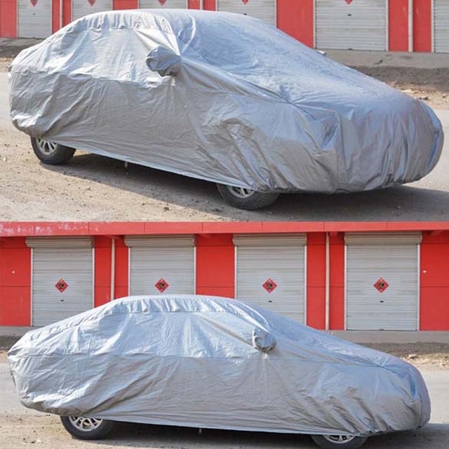 1 PC Full Car Cover UV Waterproof Outdoor Rain Snow Resistant Car Cover L 470*180*150cm for Corolla/Mazda 6/Audi A4/Benz C-Class