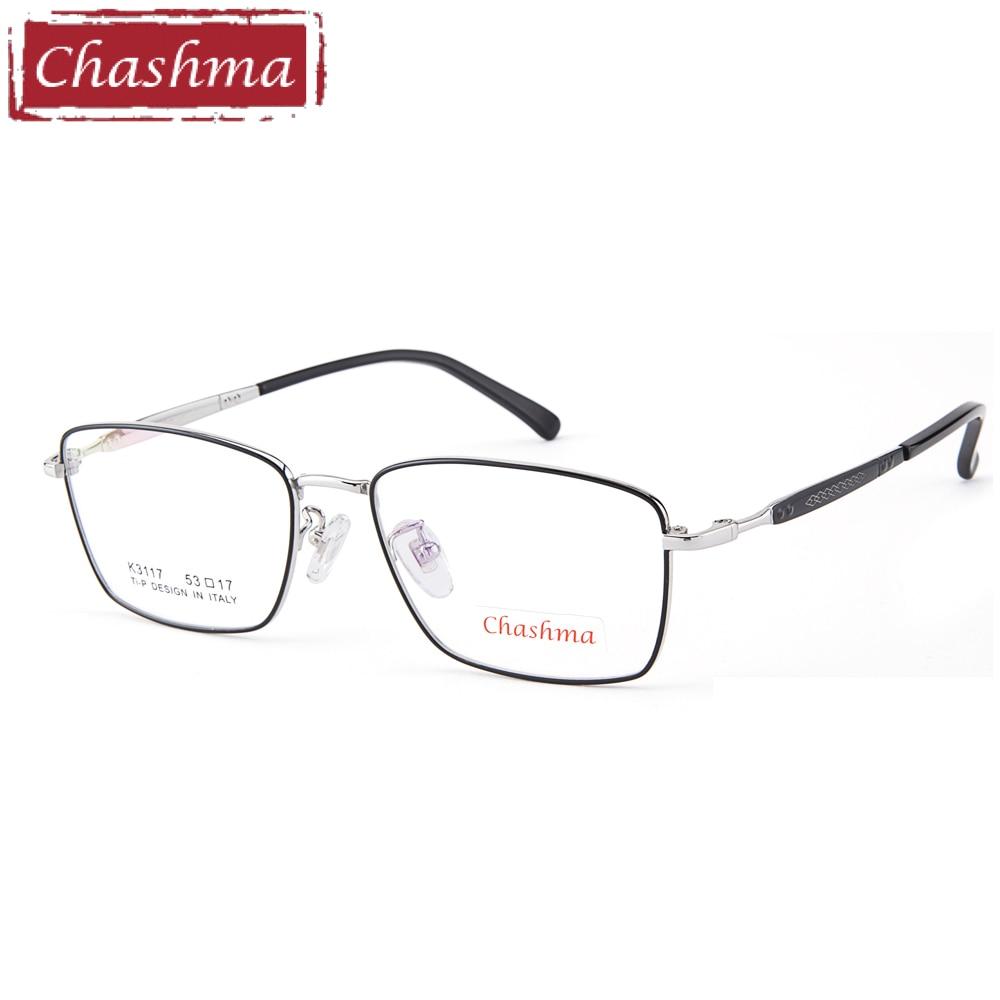 Chashma marque Designer nouveau Style titane pur lunettes de vue qualité lunettes tendance optique-lunetterie hommes cadres progressifs
