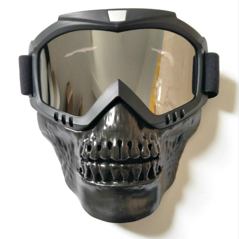 Skull Ski Goggles Mask Detachable Windproof Riding Snow Snowboard Snowmobile Goggle Sci Funny Skiing Glasses Oculos