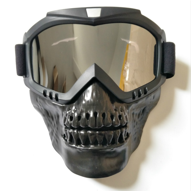 Skull Ski Goggles Mask Detachable Snowboard Eyewear Windproof Riding Snow Snowmobile Goggle Sci Funny Skiing Glasses Oculos