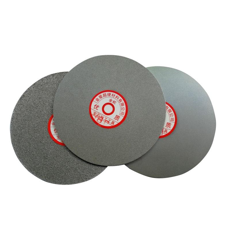 Flat Lap Wheel Diamond Coated Grinding Sanding Polishing Disc For Gemstone Glass Rock Ceramics - 200mm 8 Inch Outside Dia