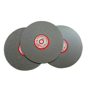 Disco de polimento de lixamento revestido diamante da roda plana do colo para a cerâmica de pedra preciosa da rocha do vidro-200mm 8 Polegada fora do diâmetro