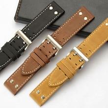 High quality watch accessories watchbands 22mm 24mm brown vi