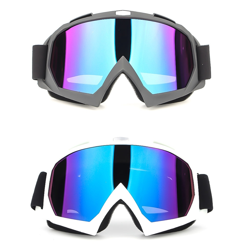 Motorcycle Protective Gears Flexible Cross Helmet Face Mask Motocross Goggles Ski Goggles Outdoor Riding Goggles