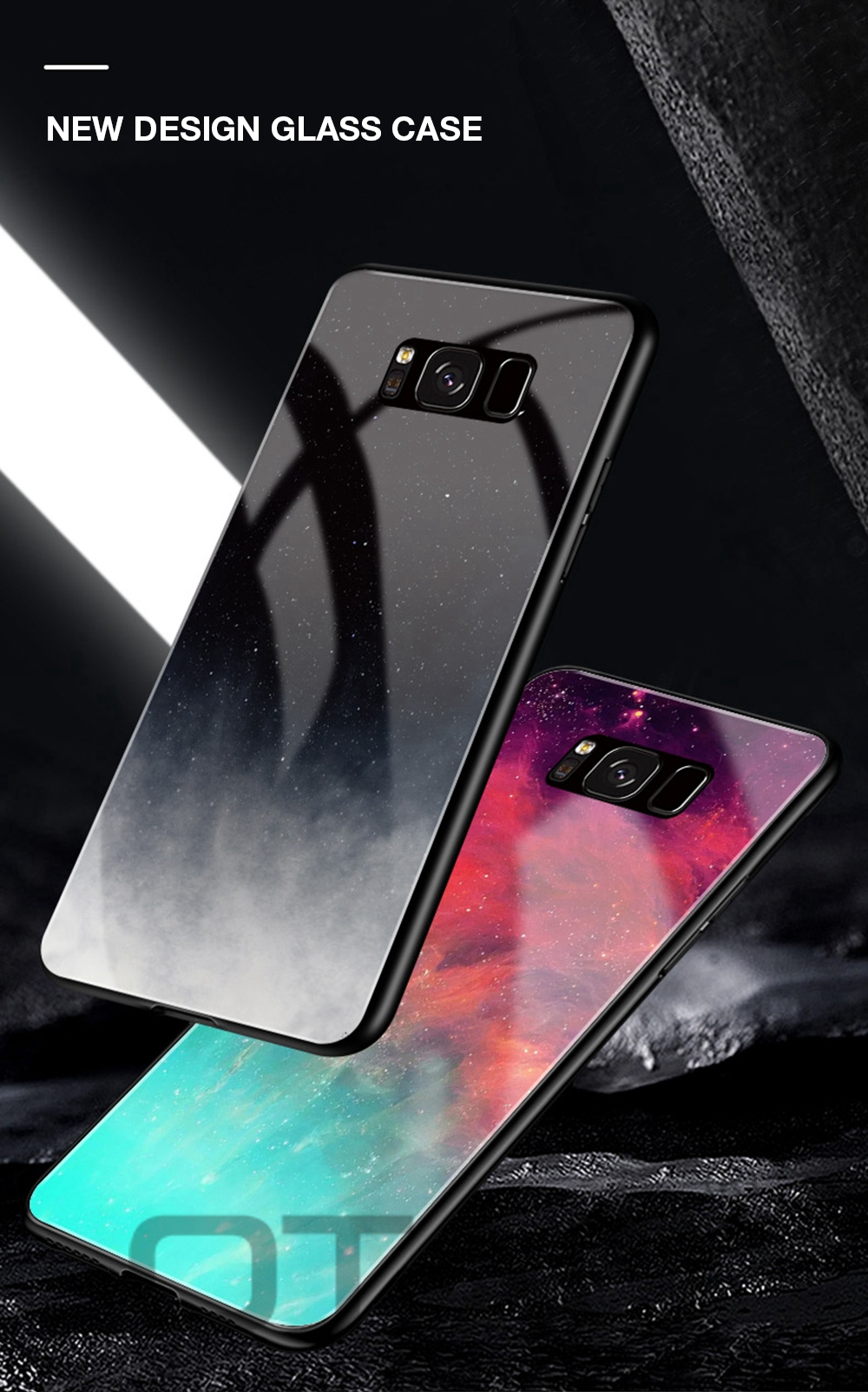 iStylishmall - Starry Sky Tempered Glass Case For Samsung Galaxy S9 S8 Plus  Note 8 9 S7 Edge