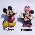 Nuevo 2 unids Niños Perillas Manijas Del Cajón Del Gabinete de Dibujos Animados Mickey Minnie Caja de Zapatos Shake Manijas y Perillas Perillas de Kindergarten Bas tire
