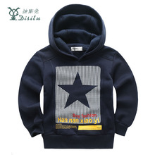 DISITU Brand Boys Star Printed Hoodies Boys Fashion Sweater Kids Clothes Casual Long Sleeve Cotton Fall Winter Outerwear T-shirt