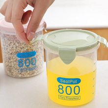 Food Storage Box Multi-functional Clear Plastic Kitchen Sealed Cans  Grain Cereal Storage Tank Snacks Dry Goods Storage Jar cheerios multi grain cereal 9 ounce boxes pack of 4