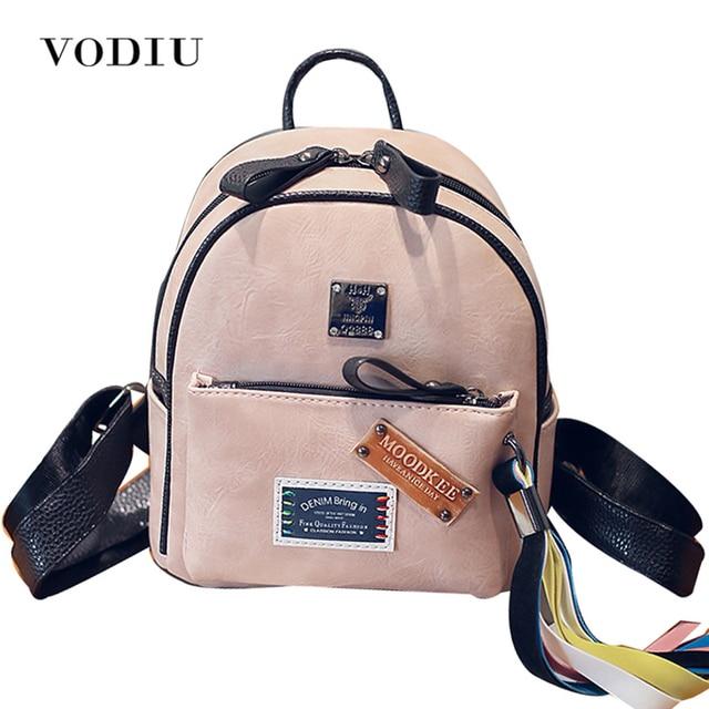1873be9eb85 2017 Preppy Leuke Designer Kleurrijke Kwastje Leer Vrouwen Rugzak School  Notebook Bag Tieners Meisje Mini Rugzakken