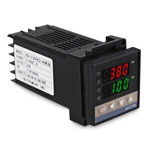 Image 3 - REX C100 Двойной цифровой ПИД регулятор температуры от 0 до 400 градусов, термостат SSR, выходные комплекты с датчиком зонда типа K