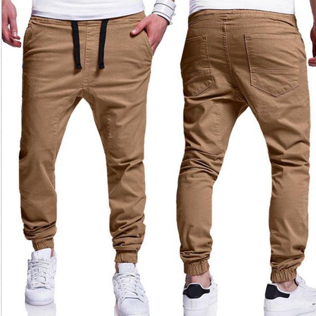 Sweatpants Mens 3xl Pantalones Cargo Sólido Hombres En Casual Tamaño Chinos  2018 Algodón Calidad Otoño Color ... a157421ead86