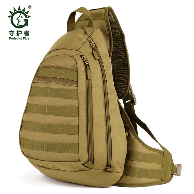 9ff3412298 Field Tactical Chest Sling Pack Outdoor Sport A4 One Single Shoulder Man  Big Large Ride Travel Backpack Bag Advanced Tactical