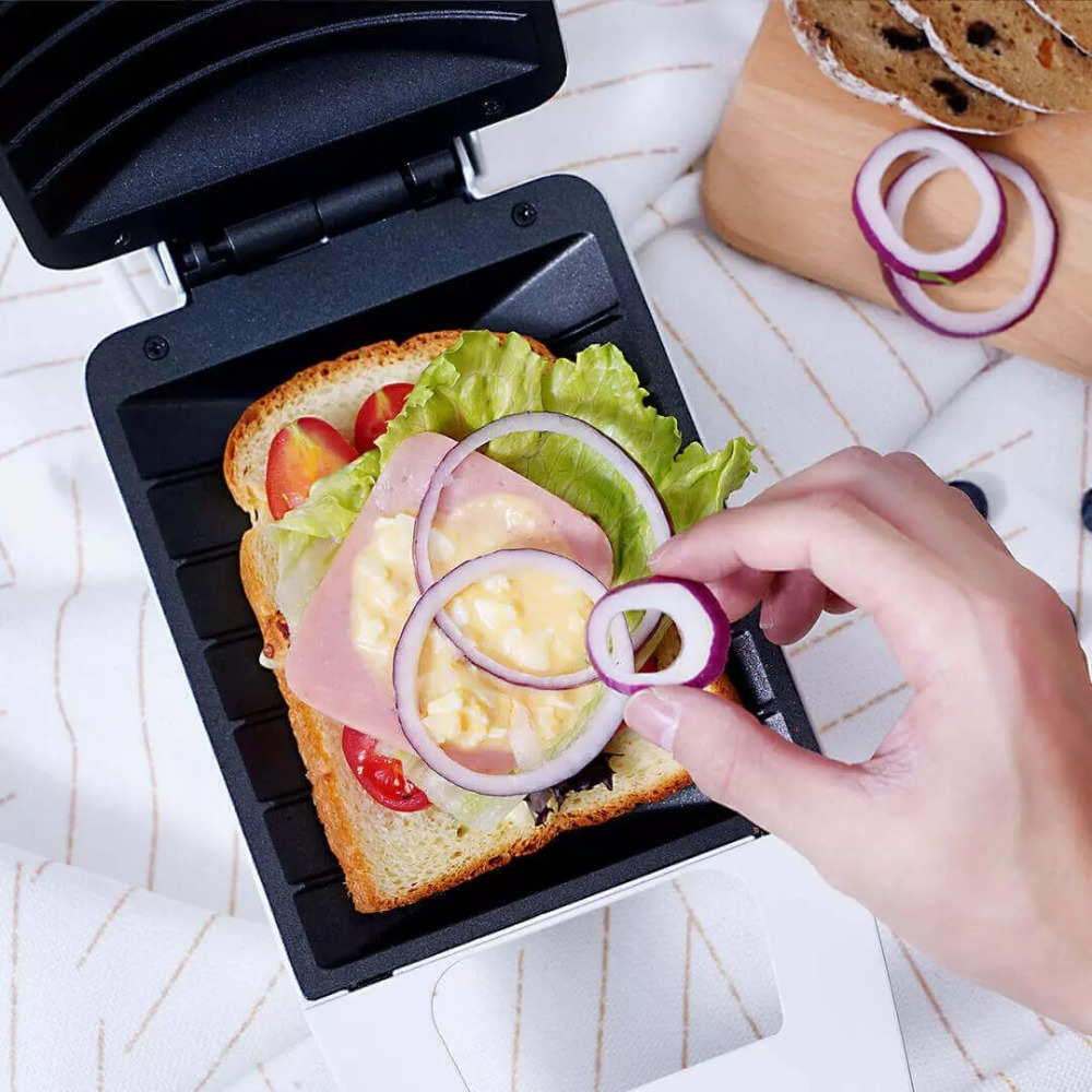 Xiaomi Mijia Pinlo Mini Sandwich Machine Fast Food Maker Easy Storage High Capacity Curved Inner Liner for Home Office DIY Food (5)