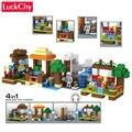 Minecraft Mi Mundo de Bloques de Edificio Pequeño Pueblo Ladrillos Figuras Conjuntos Modelo de Árbol de Pasatiempos DIY Juguetes Educativos Regalo de Los Niños