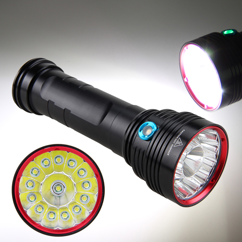 LED Tactical Flashlight XM-L T6 20000 Lumens Waterproof Outdoor Camping Hunting Handheld Led Lamp Torch With 18650 Battery Pack waterproof xm l t6 2200 lumen torch tactical zoom led flashlight torch light lanternas led by 3 aaa 18650 battery