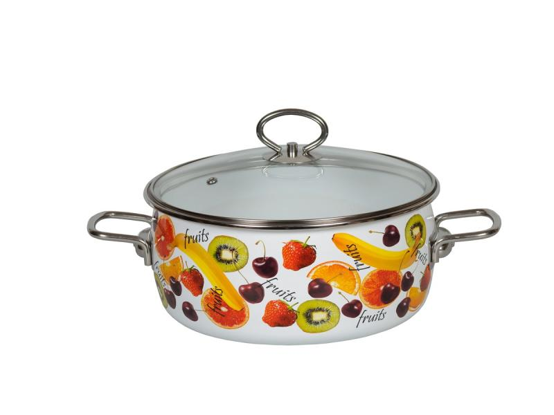 Pan VITROSS, Fruits, 4 L, with glass cover pan vitross fruits 3 l with glass cover