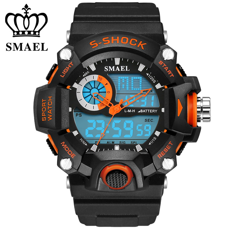 Klok SMAEL Herenhorloges voor heren Quartz Digital Fashion Militair Casual sporthorloge Luxe merk Relogio Outdoor Horloges