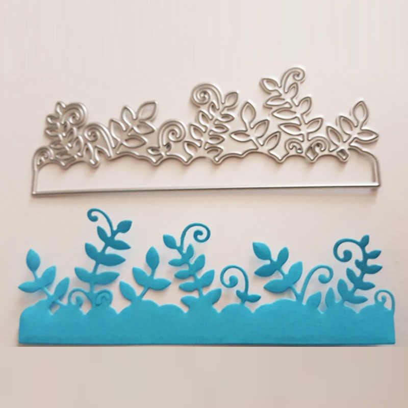 Matrices de découpe en métal Scrapbooking fleur feuille herbe arbre fond artisanat découpe carte faisant bricolage snijmal en gaufrage pochoirs
