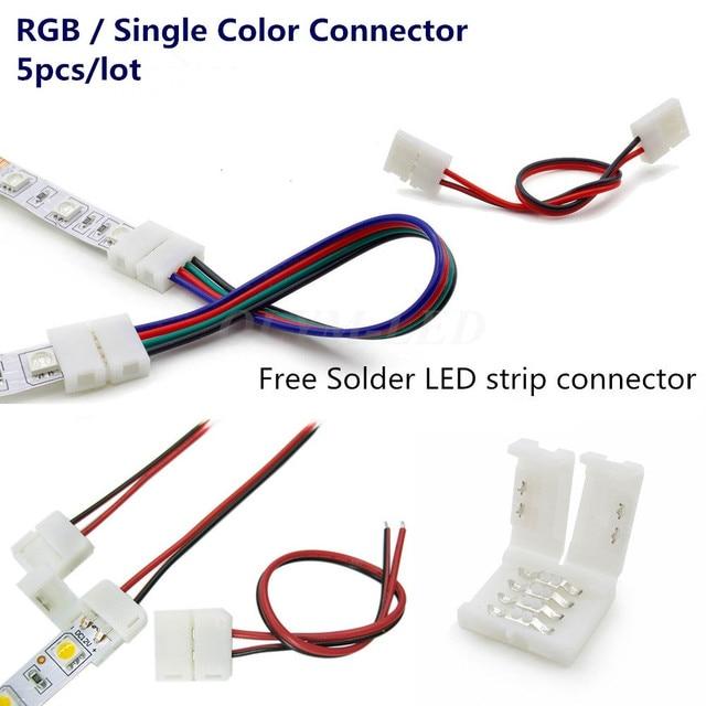 5050 Led Strip Wiring Diagram 3 Wire Circuit 4 Pin 1tt Awosurk De 5x 2pin 4pin Connector 8mm 10mm 3528 2835 Rgb Rh Aliexpress Com Rocker Switch