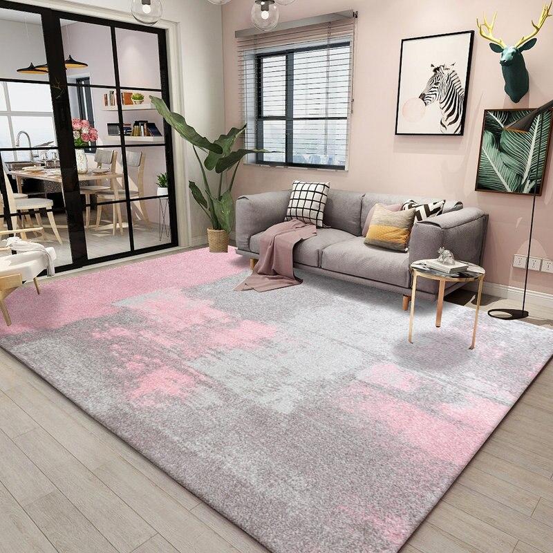 Coloré rose série tapis pour salon maison chambre tapis canapé Table basse tapis de sol décoratif étude chambre tapis Piano tapis