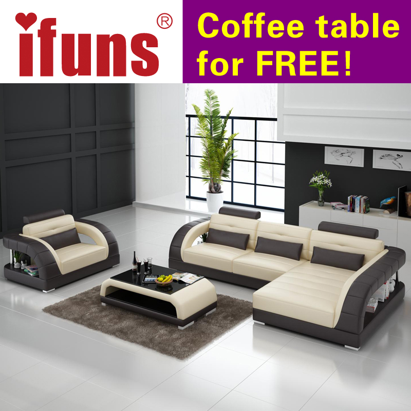Cheap Genuine Leather Sectional Sofa: Aliexpress.com : Buy IFUNS French Sofa Set Living Room