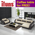 IFUNS french sofa set living room furniture,genuine leather lounge sofa with loveseat chesterfield sectional sofa