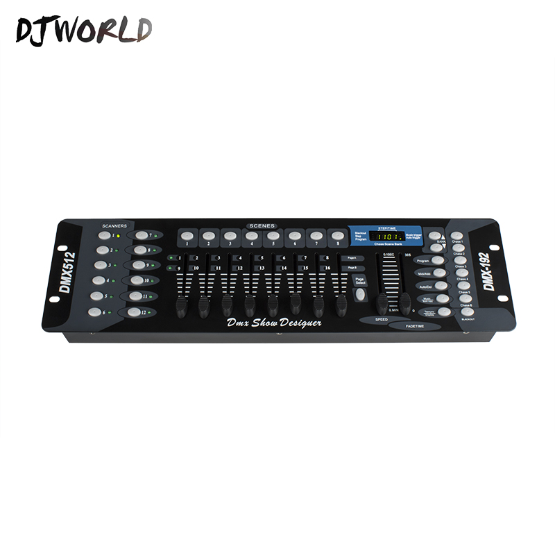 Djworld Hot Sell International Standard DMX 192 Controller For Stage Lighting 192 DMX Console Adjuster Equipment DJ Controller image
