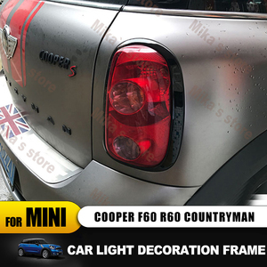 Image 2 - ABS For Mini Cooper countryman R60 F60 car styling  Rear Tail Lights+Head Lamps Rims Surrounds Covers car styling (4 Pcs/set)