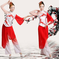 New Fan Dance Clothing Classical Clothes Yangko Dance Costumes National Umbrella Clothes For Adult Chinese Folk