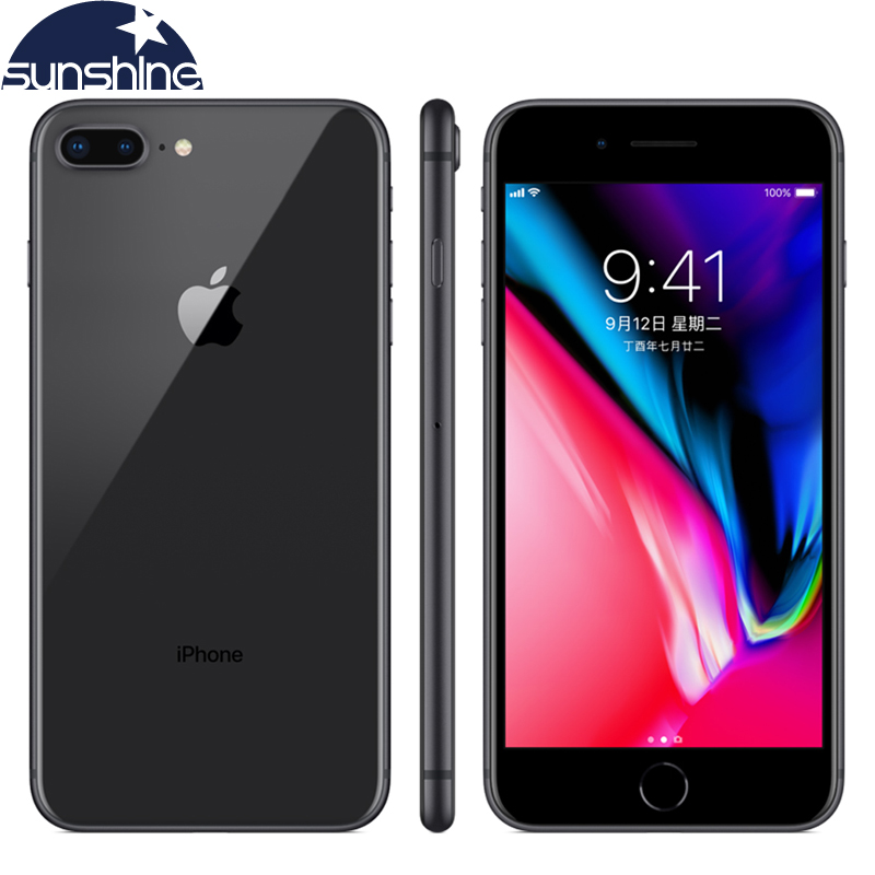 Unlocked Fingerprint Mobile phone Original Apple iPhone 8 Plus 4G LTE Cell phones 3GB RAM 64/256GB ROM 5.5' 12.0 MP Hexa-core(China)