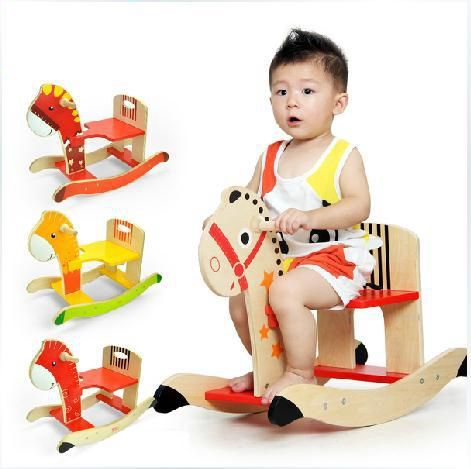 Kids ride on toys,Wooden Rocking Horse