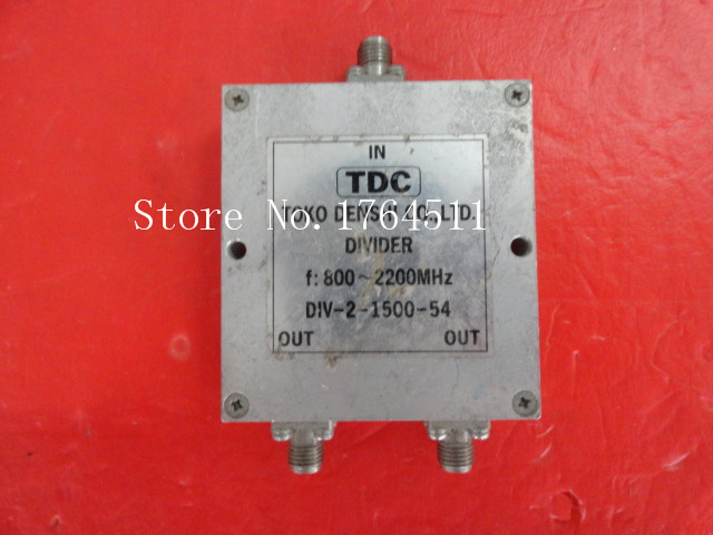 [BELLA] TDC DIV-2-1500-54 0.8-2.2GHz A Two Supply Power Divider SMA