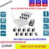 H 264 8CH WIFI NVR KIT 8pcs 1 0MP Waterproof Outdoor Wireless IP Cameras WIFI NVR