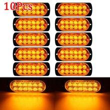 10 шт. 12 в 36 Вт светодиодный автомобильный боковой габаритный задний светильник Янтарный прицеп грузовик лампа автомобильный Автобус Грузовик внешние огни lkw водонепроницаемый прочный ATV