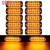 10Pcs 12V 36W LED Auto Seite Marker Schwanz Licht Bernstein Anhänger Lkw Lampe Auto Bus Lkw Externe lichter lkw Wasserdichte Durable ATV