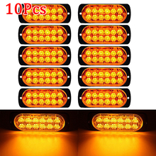 10Pcs 12V 36W LED Car Side Marker Tail Light Amber Trailer Truck Lamp Car Bus Truck External Lights lkw Waterproof Durable ATV