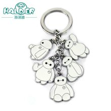 Halder Famous Cartoon Movie Big Hero Figures Key Chains Whiting Characters Anime Colorful Pendants Accessories For Easy Carrying