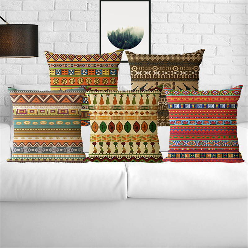 Wholesale wedding gift pillow cover african geometric for Decor nation