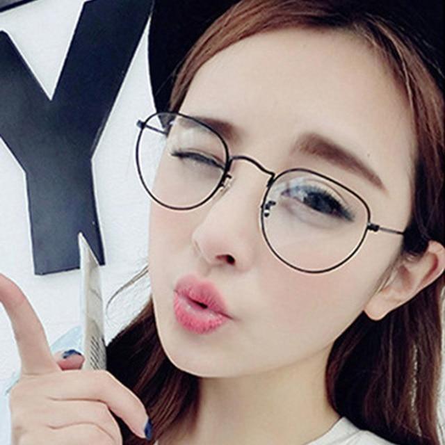 Korean Fashion Round Glasses Les Baux De Provence